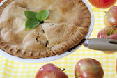 184 cropped image of a apple pie — Stock Photo