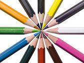 195 assortierte farbstiften — Stockfoto