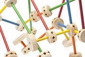 198 wooden tinker toys — Stock Photo