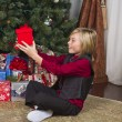 Surprised boy with his christmas gift — Stock Photo #19910525