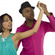 Dancing  young sweet couple - Stock Photo