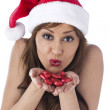 Sexy santa girl — Stock Photo