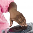 Dj spinning on the turntable — Stock Photo