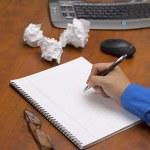 599 human hand writing on notepad — Stock Photo #19966959