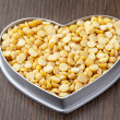 677 heart shape beans - Stock fotografie