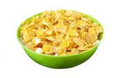 Corn flakes con latte — Foto Stock