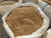 Wheat for sale in a romanian market — Stock Photo