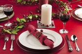 Christmas dinner table — Stock Photo