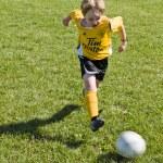 Boy playing soccer — Stock Photo #19970079