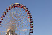 Low angle view of ferris wheel against clear sky — Stock Photo