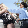 Sexy courtesan arrested — Stock Photo