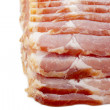 921 close up of sliced raw bacon - Stock Photo