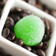 Stock Photo: 934 green candy and coffee beans