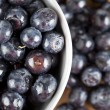 A bowl with blueberries — Stock Photo