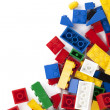 A colorful lego bricks - Stock Photo