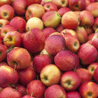 A stack of red apples - Stock Photo