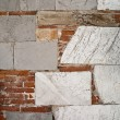 Stock Photo: Abstract marble stone and brick wall