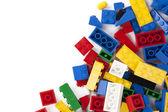 Een kleurrijke legobakstenen — Stockfoto
