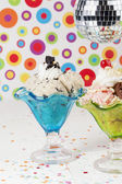 A cup of ice cream with a disco ball — ストック写真