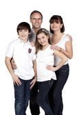 A family smiling — Stock Photo