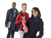 A happy multi cultural college students — Stock Photo