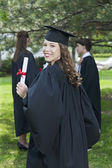 A lady smiling on her graduation day — Stock Photo