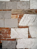 Abstract marble stone and brick wall — Stock Photo