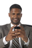 Businessman texting — Stock Photo