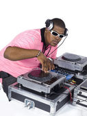 African american dj — Stock Photo