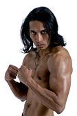 侵略性肌肉男子 — 图库照片