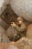 Aiming sniper — Stock Photo