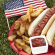 American snack — Stock Photo