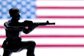 American military toy soldiers — Stock Photo