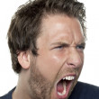 Angry man yelling — Stock Photo