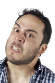 Angry face of a man — Stock Photo