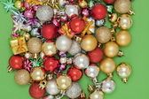 Assorted christmas balls — Stock Photo