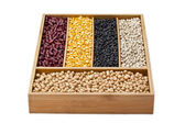 Assorted dried beans — Stock Photo