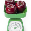 Stock Photo: Apples on scale
