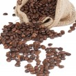 A sack of coffee beans - Stock Photo