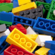 Stock Photo: Pile of colorful lego blocks