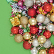 Assorted christmas decors — Stock Photo