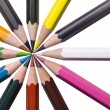 Assorted colorful pencils - Stock Photo