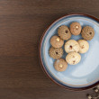 Stock Photo: Assorted cookies and saucer