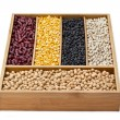 Stock Photo: Assorted dried beans