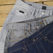 Stock Photo: Assorted kinds jeans