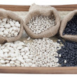 Stock Photo: Assorted kinds of beans