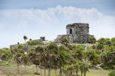 Ancient mayan ruins in tulum mexico — Stock Photo