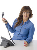 Annoying caller — Stock Photo