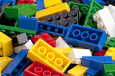 A pile of colorful lego blocks — Stock Photo