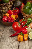 Assorted kinds of mexican vegetables — Stock Photo
